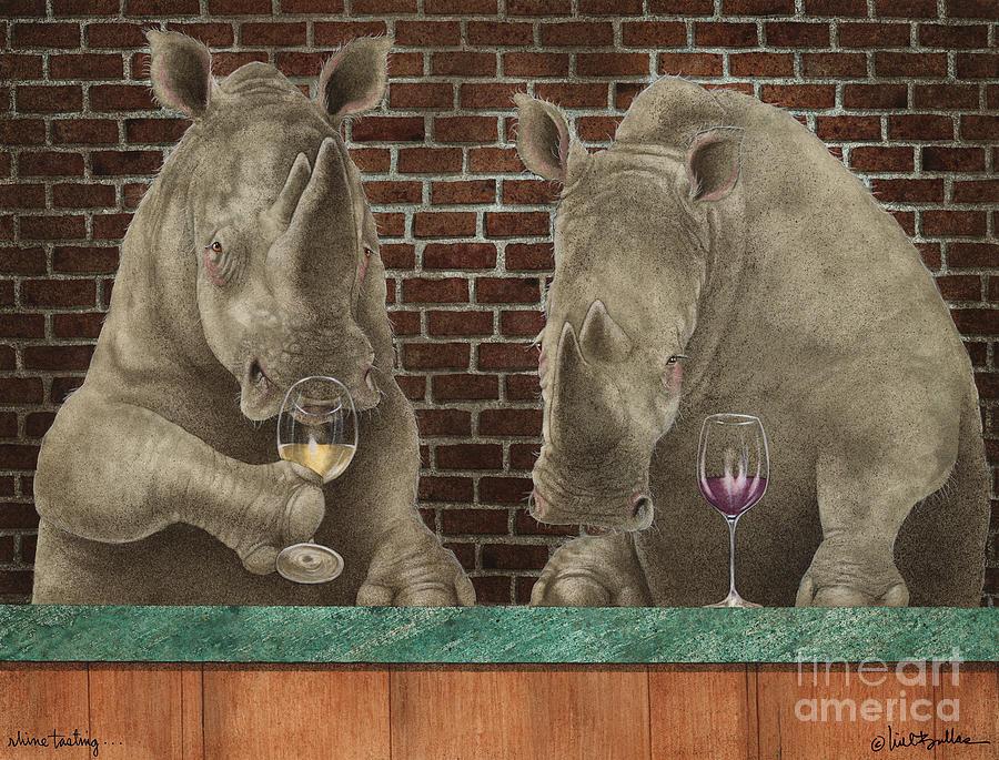 Will Bullas Painting - Rhine Tasting... by Will Bullas