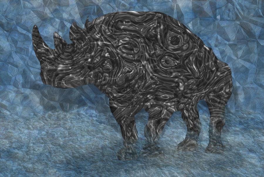 Rhino Painting - Rhino 5 by Jack Zulli