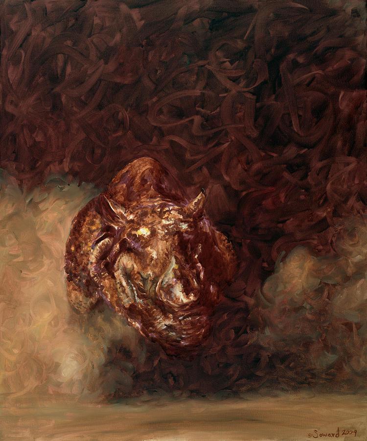 Rhino Painting - Rhino Charger Heaven by Sarah Soward