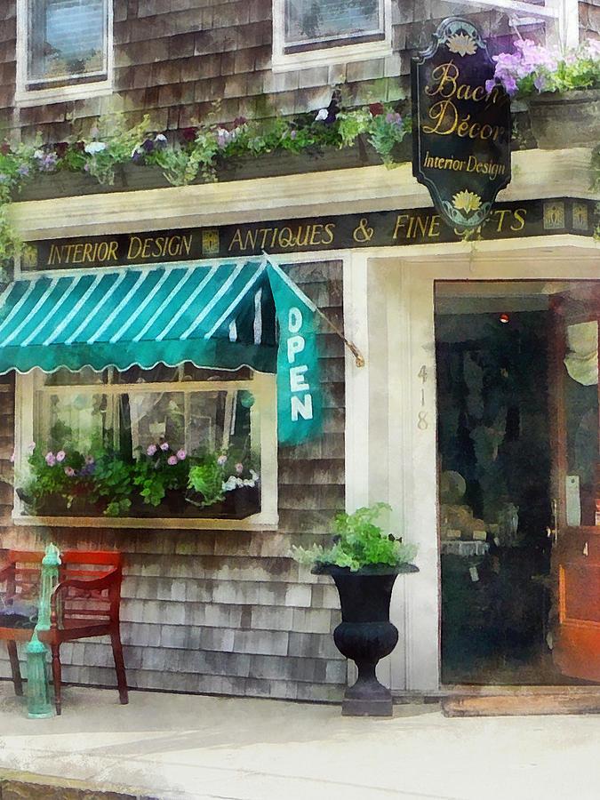 Antique Photograph - Rhode Island - Antique Shop Newport Ri by Susan Savad