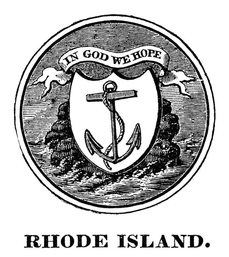 Rhode Island State Seal Photograph By Granger