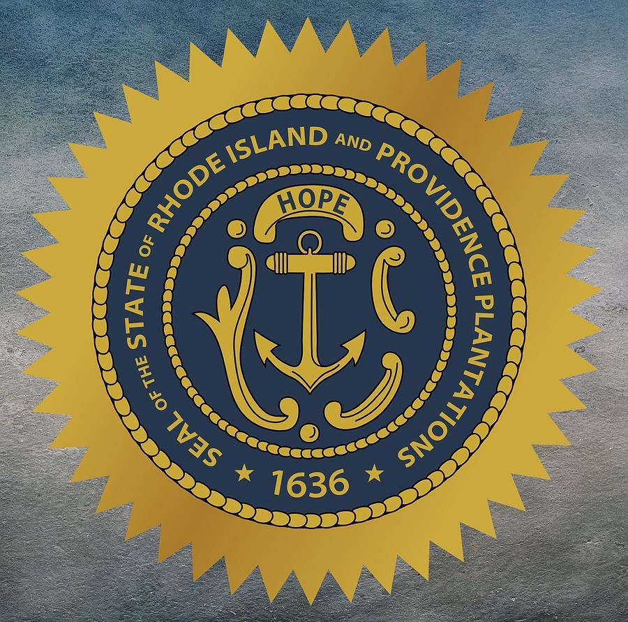 Rhode Island State Seal Digital Art By Movie Poster Prints