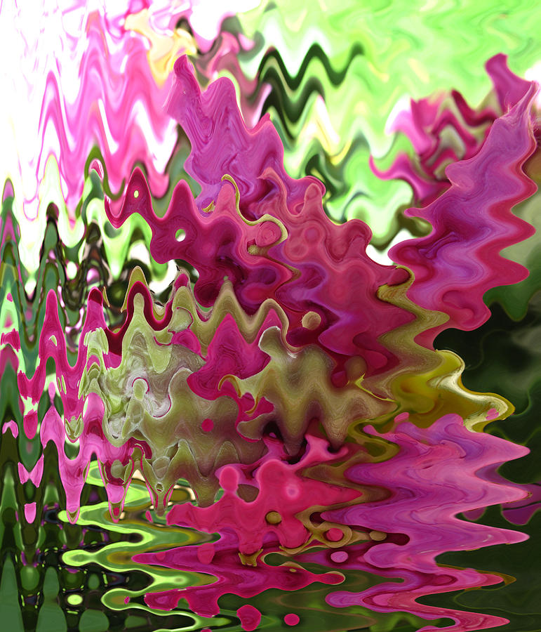 Pink Photograph - Rhodie Wave Abstract by Barbara McDevitt