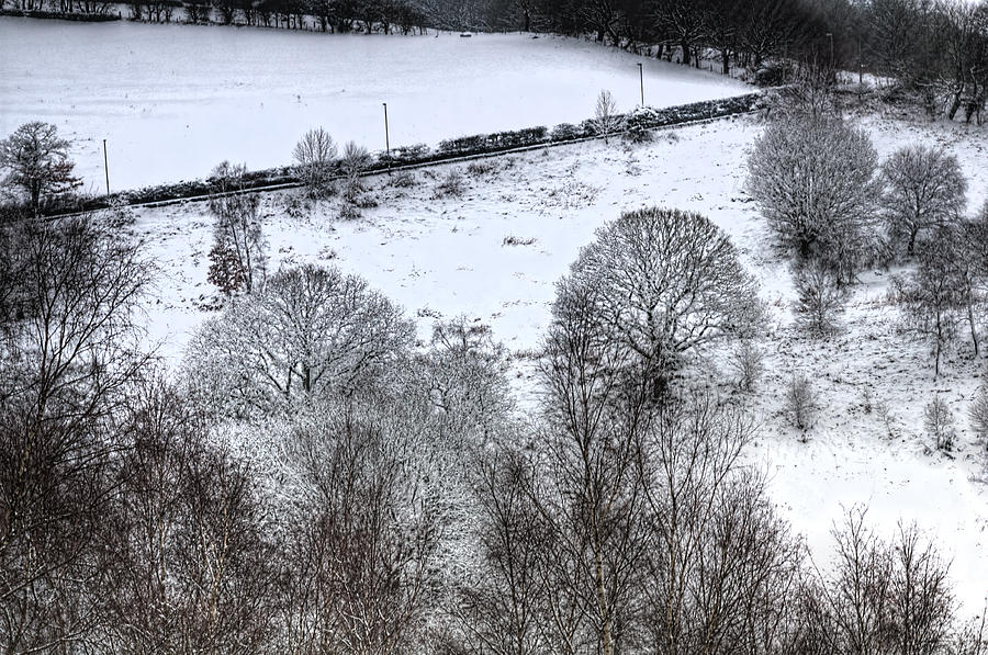 Winter Photograph - Rhymney Valley Winter 4 by Steve Purnell