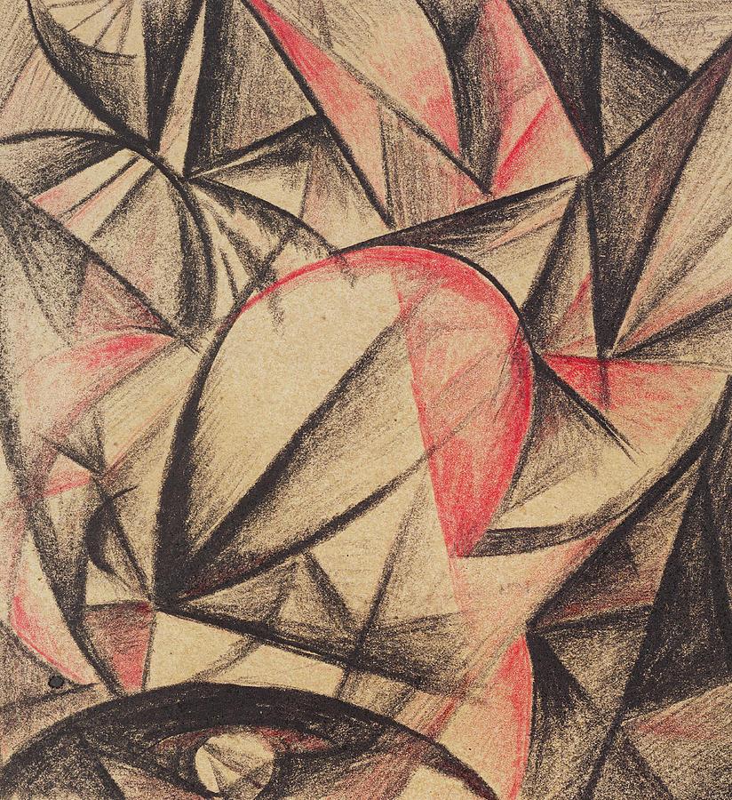 Red Painting - Rhythm Of Forms by Alexander Bogomazov