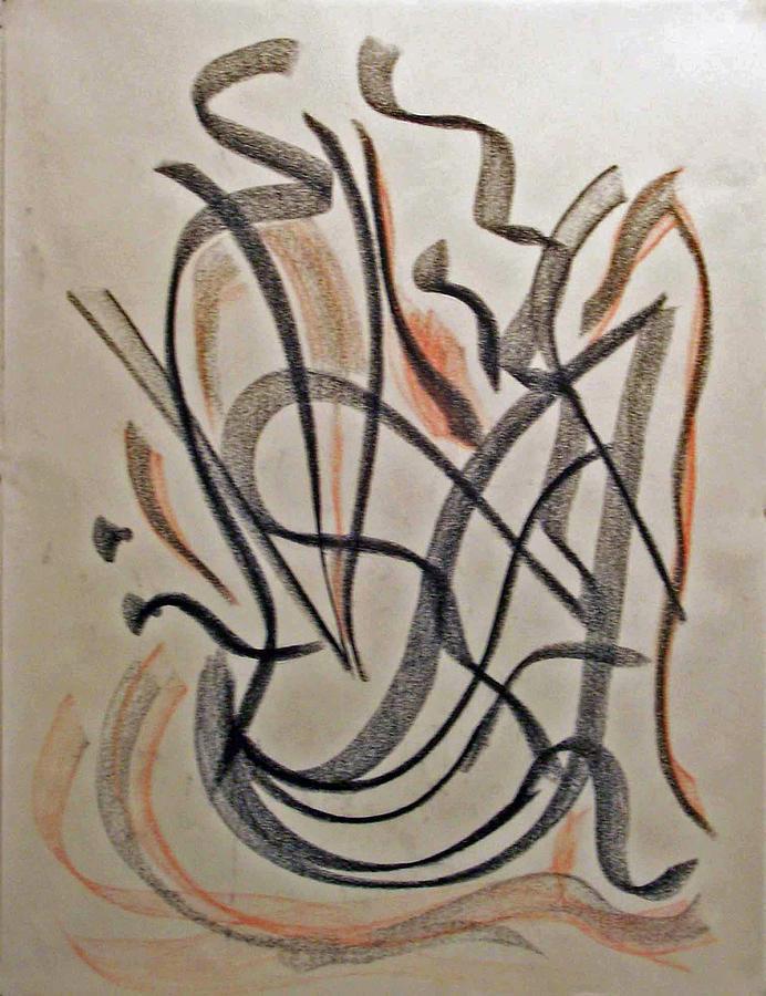 Abstract Expressionism Drawing - Rhythmic Interpretation  by John Neumann