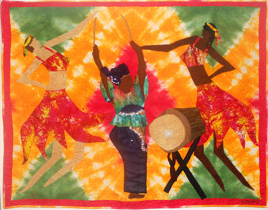 Applique Tapestry - Textile - Rhythms by Aisha Lumumba