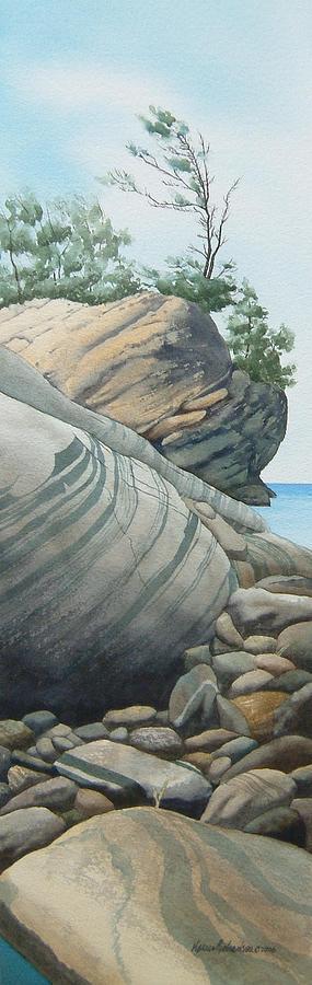 Watercolor Painting - Rhythms In Rock by Karen Richardson