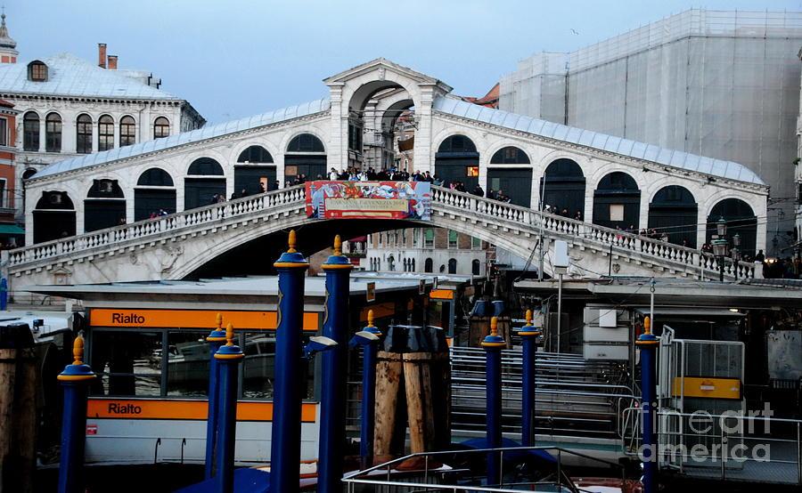 Venice Photograph - Rialto Bridge - Color by Jacqueline M Lewis