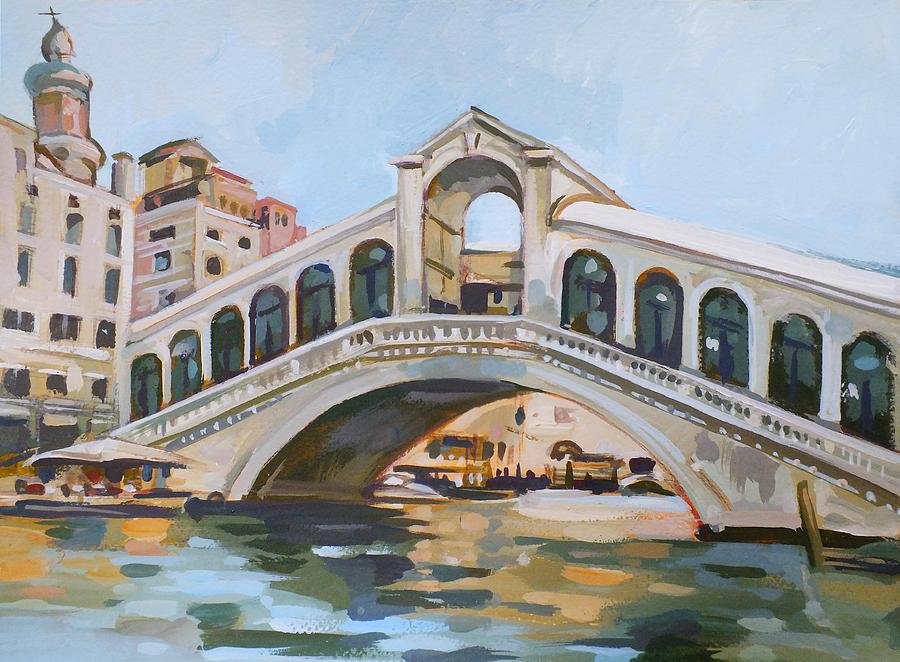 Rialto Painting - Rialto Bridge by Filip Mihail
