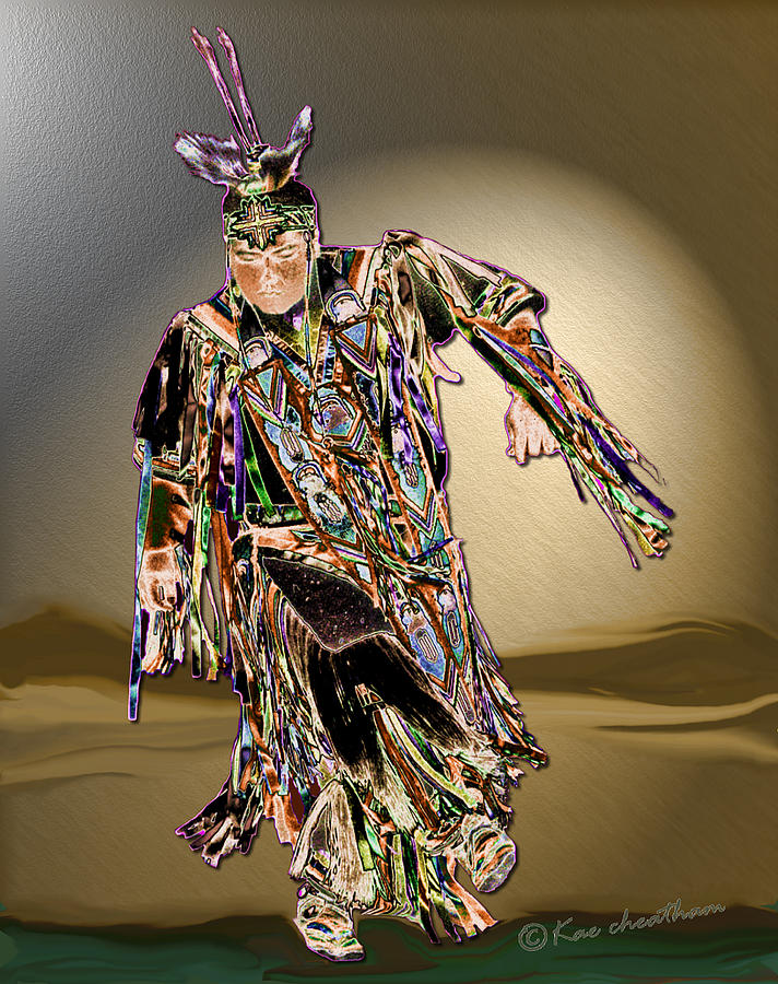 Pow Wow Dancer Photograph - Ribbon Dancer by Kae Cheatham
