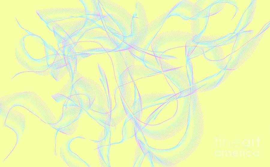 Abstraction Digital Art - Ribbons by Lali Kacharava