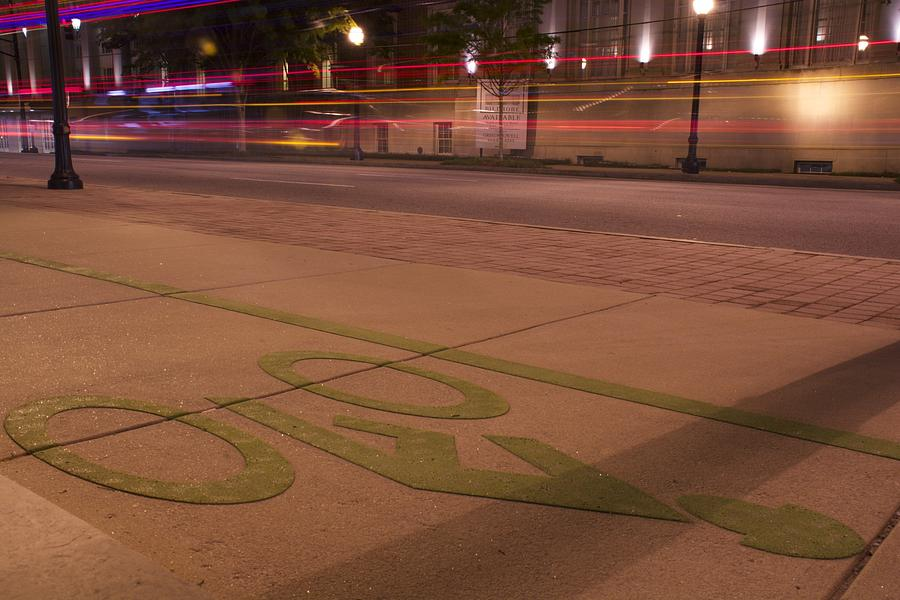 Bicycle Photograph - Ribbons Of Light by Lisa Marie Pane