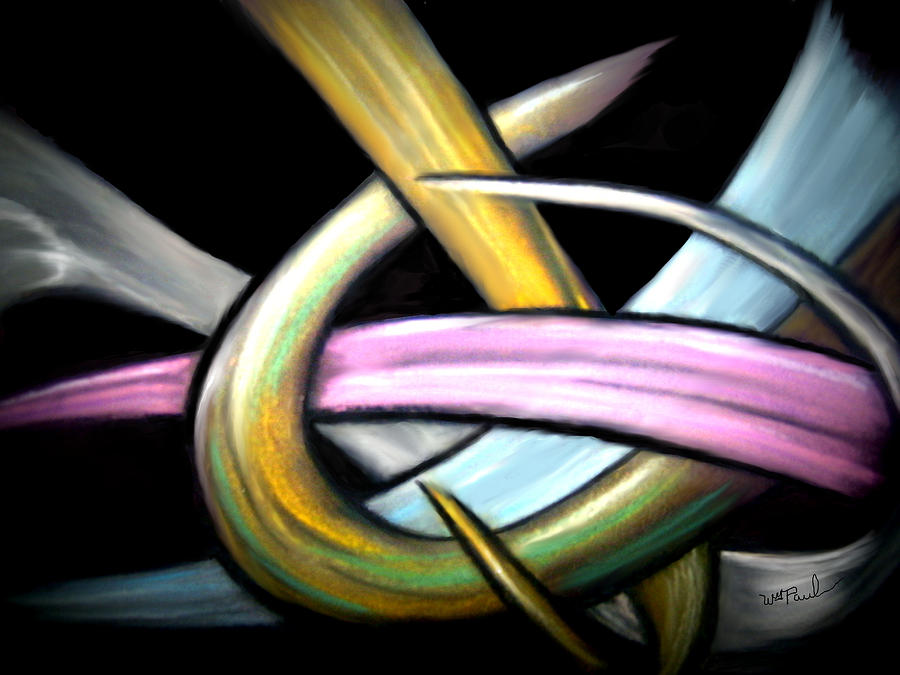 Ribbons Mixed Media by William  Paul Marlette