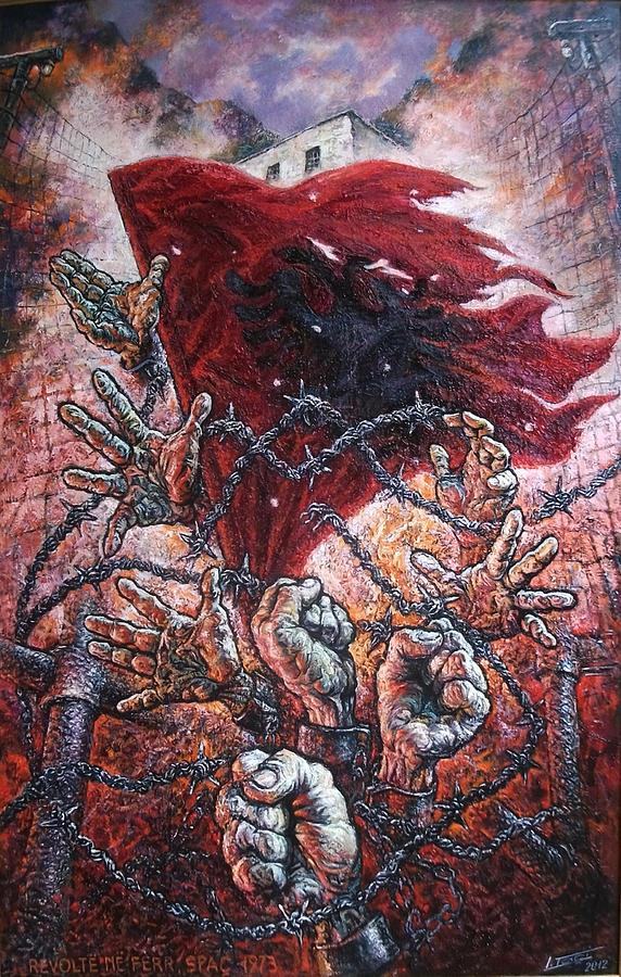 Ribellion On Infern Painting by Lazar Taci