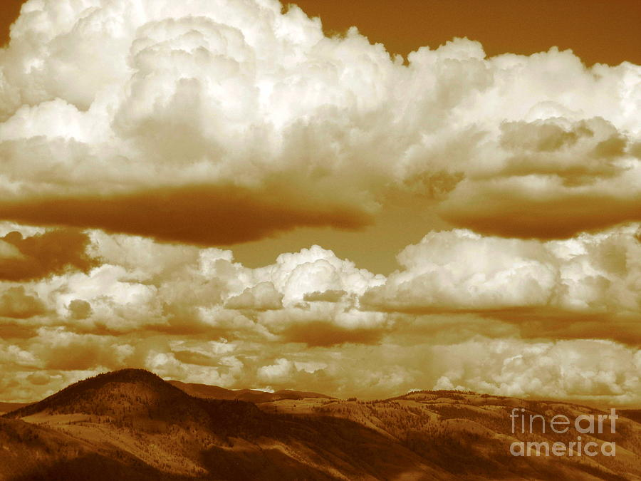 Clouds Photograph - Rich Moment by Kathy Bassett