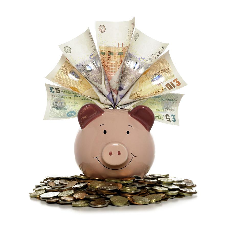 Rich Piggy bank Photograph by malamus-UK