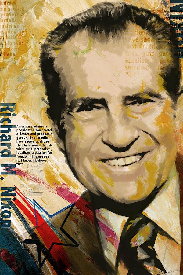 Richard Nixon Painting - Richard Nixon by Corporate Art Task Force