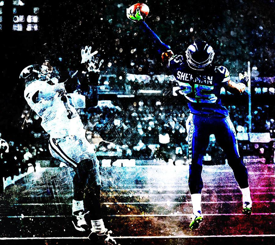 Richard Sherman Digital Art - Richard Sherman Give Me That by Brian Reaves