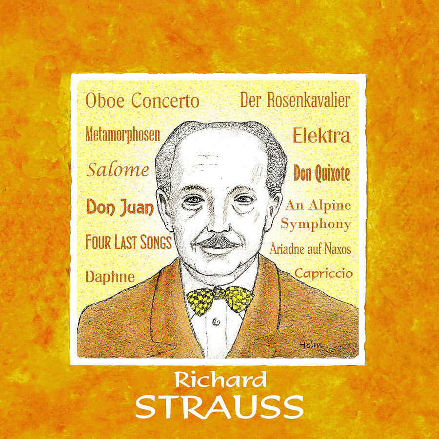 Richard Strauss Mixed Media - Richard Strauss by Paul Helm
