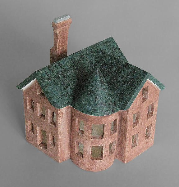 House Ceramic Art - Richardsonian Romanesque by Keith J Hampton