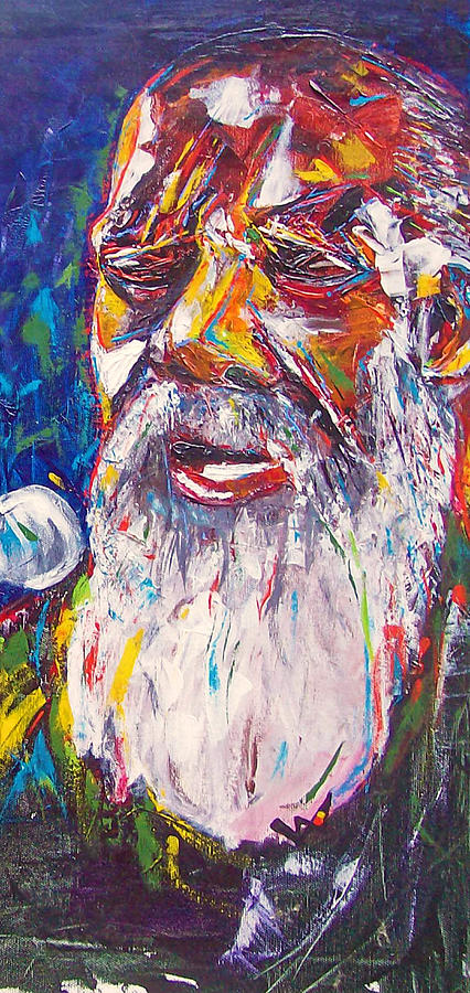 Richie Havens Painting - Richie Havens - Freedom by Valerie Wolf