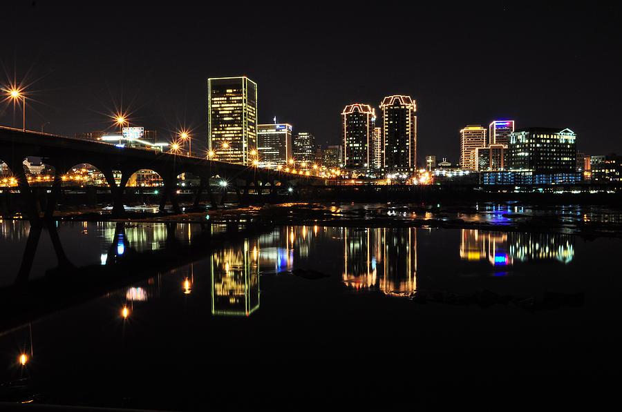 Richmond Night Skyline Photograph By Stacy Abbott