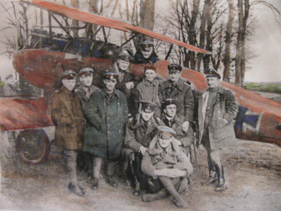 German Painting - Richthofen And His Flying Circus by Vikram Singh