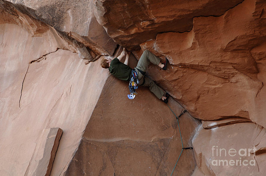 Climbing Photograph - Riddle Of The Rock by Bob Christopher