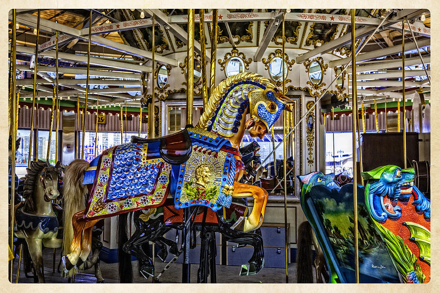 Carousel Photograph - Ride A Painted Pony - Coney Island 2013 - Brooklyn - New York by Madeline Ellis