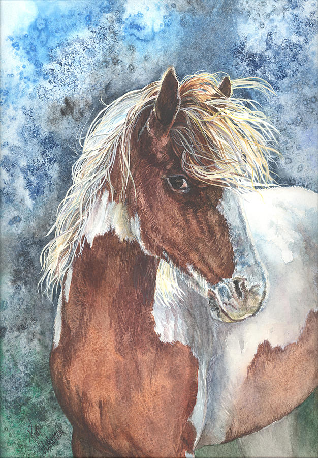 Horse Painting - Pinto Pony by Kim Sutherland Whitton