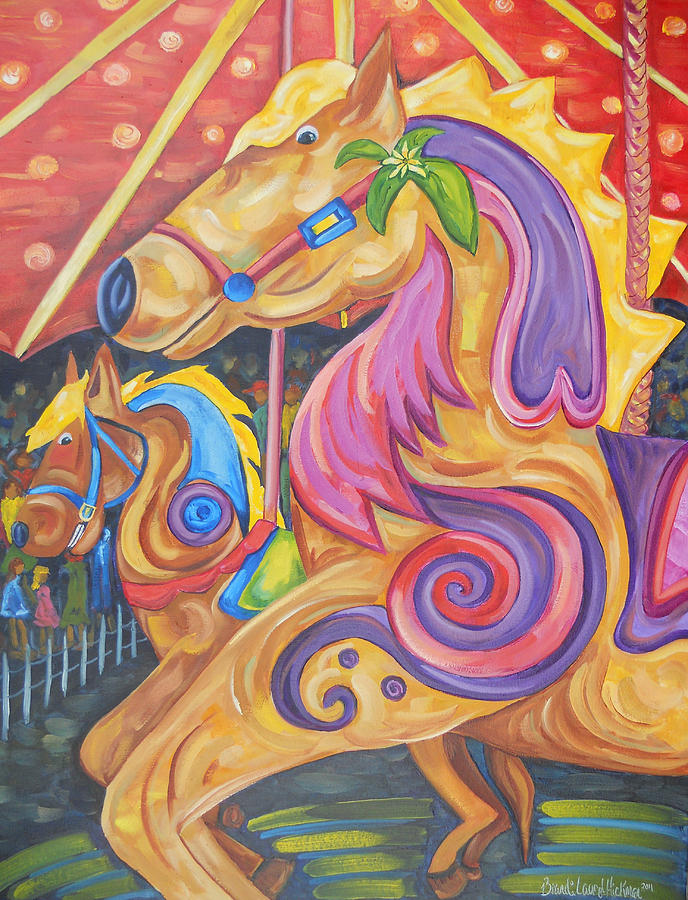 Carousel Painting - Ride Of A Lifetime by Brandi  Hickman
