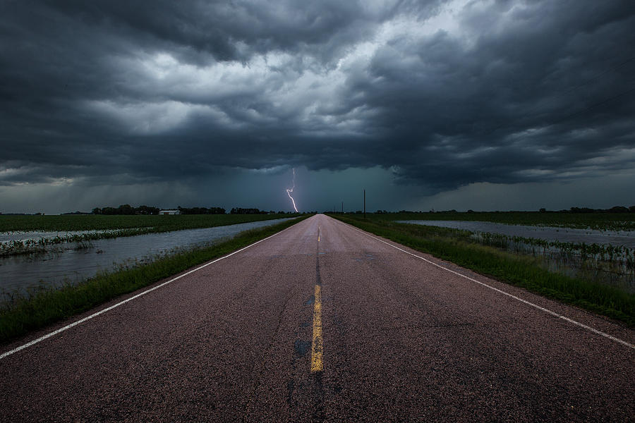 Road To Nowhere Photograph - Ride The Lightning by Aaron J Groen