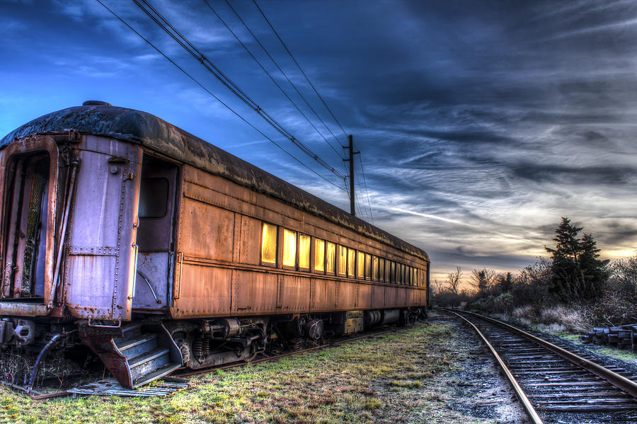 Railroad Photograph - Ride The Rails by Andrew Pacheco