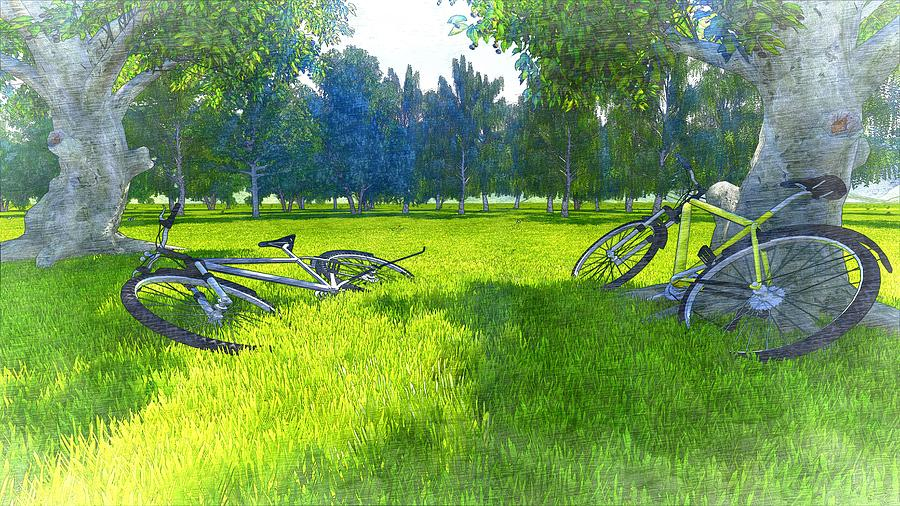 Ride To The Spring Digital Art