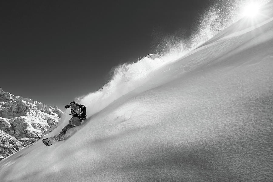 Snowboard Photograph - Ridge by Jakob Sanne
