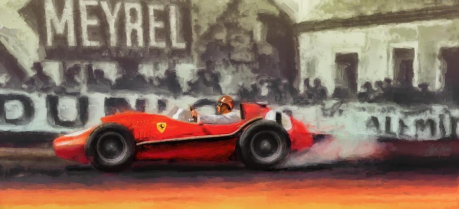 Ferrari Digital Art - Ridin The Red Roman by Alan Greene