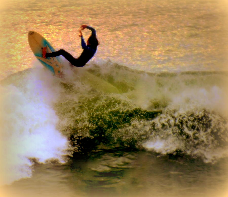 Surfing Photograph - Riding High by Karen Wiles