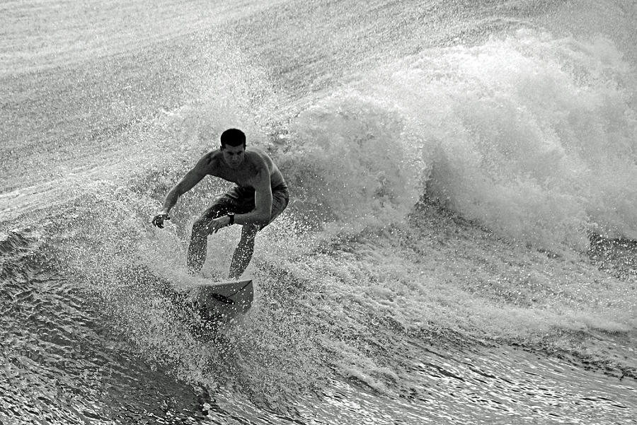 Surfing Photograph - Riding It In by Thomas Fouch