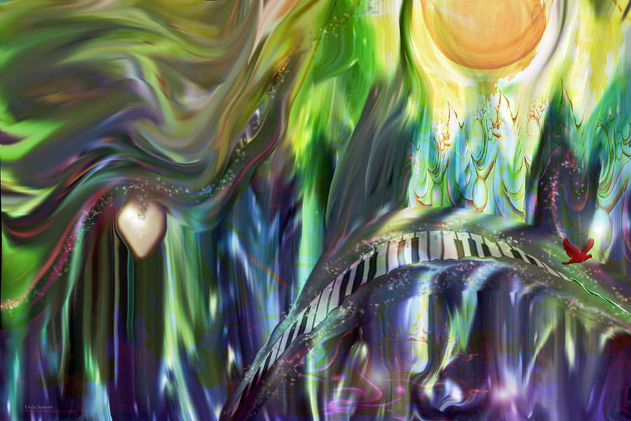Riding The Wave Digital Art - Riding The Wave by Linda Sannuti