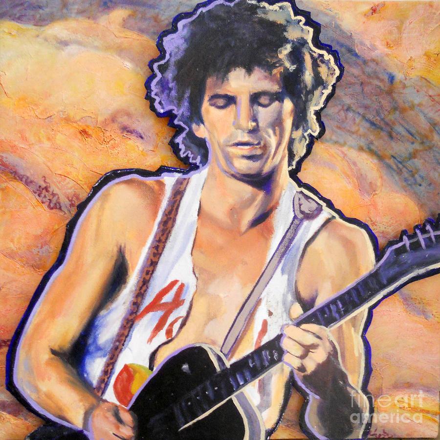 Keith Richards Painting - Riffmaster I by Carole Heslin