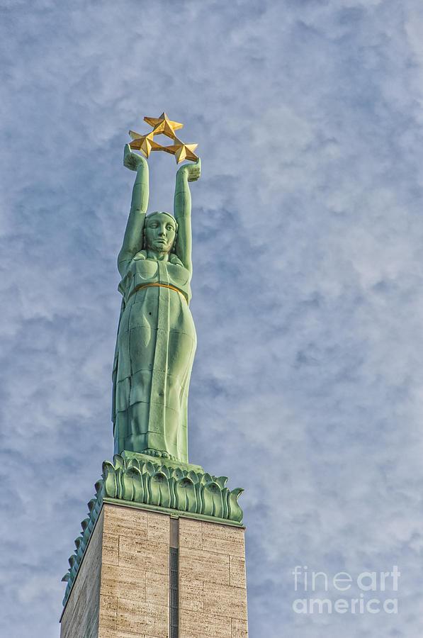 Monument Photograph - Riga Freedom Monument 04 by Antony McAulay