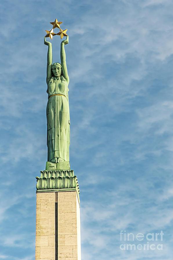 Monument Photograph - Riga Freedom Monument by Antony McAulay