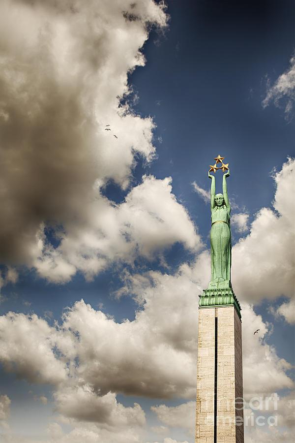 Latvia Photograph - Riga Freedom Monument by Sophie McAulay