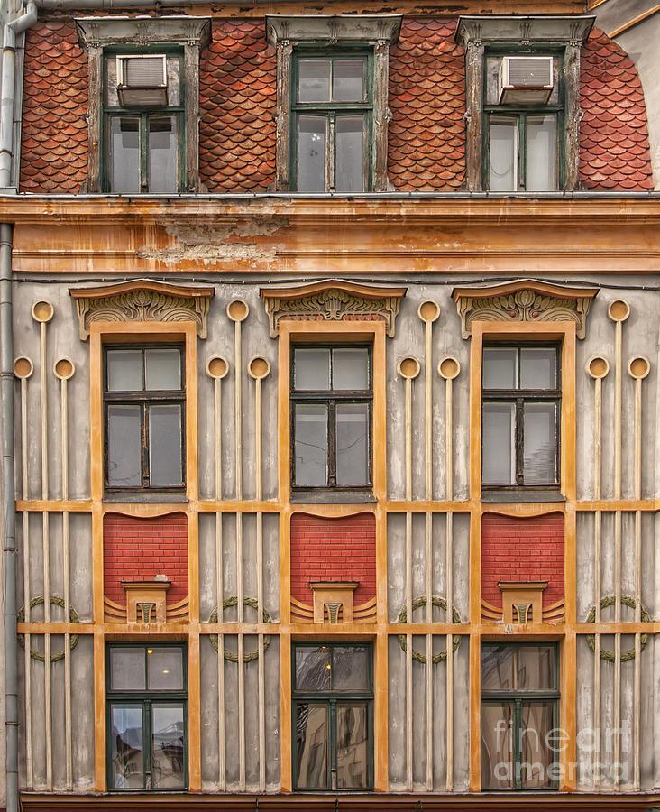 Riga old house facade photograph by antony mcaulay for Classic house facades
