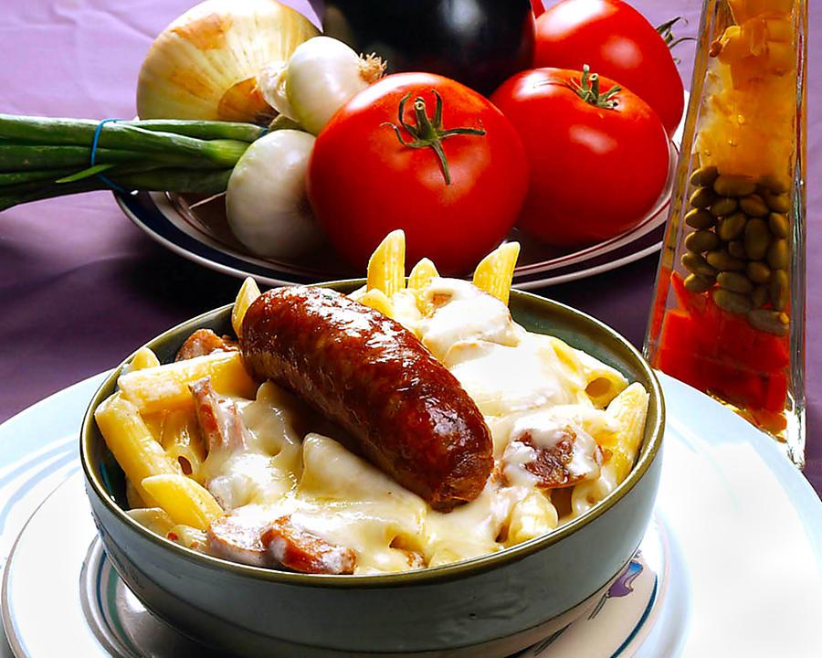 Rigatoni Photograph - Rigatoni And Sausage by Camille Lopez
