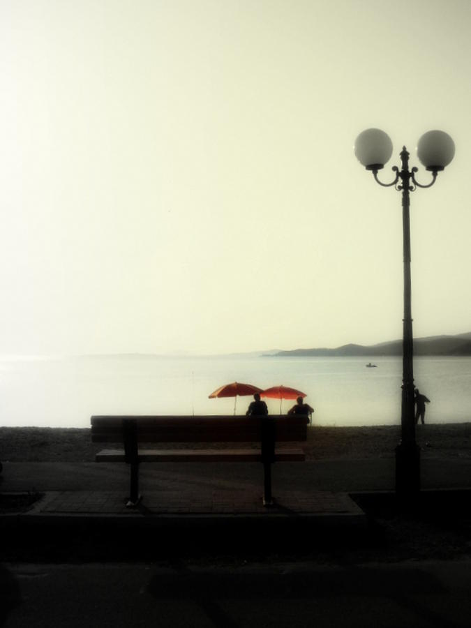 Bench Photograph - Right Distance by Ioanna Papanikolaou