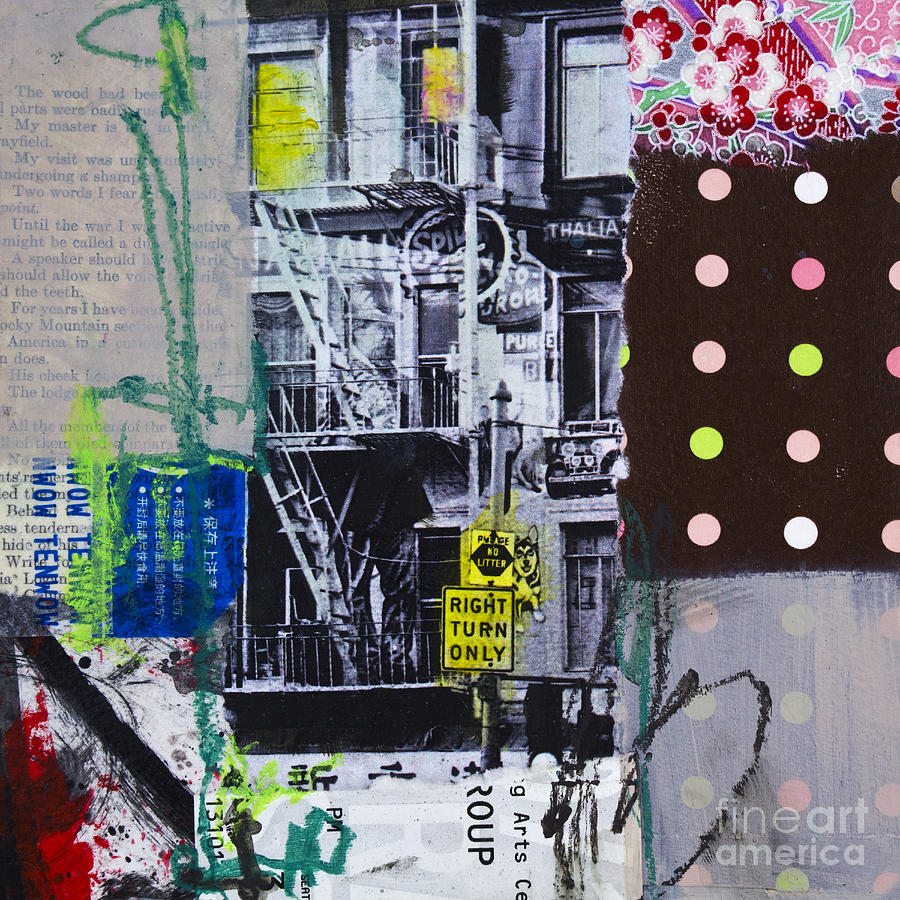 Right Turn Only Mixed Media - Right Turn Only by Elena Nosyreva
