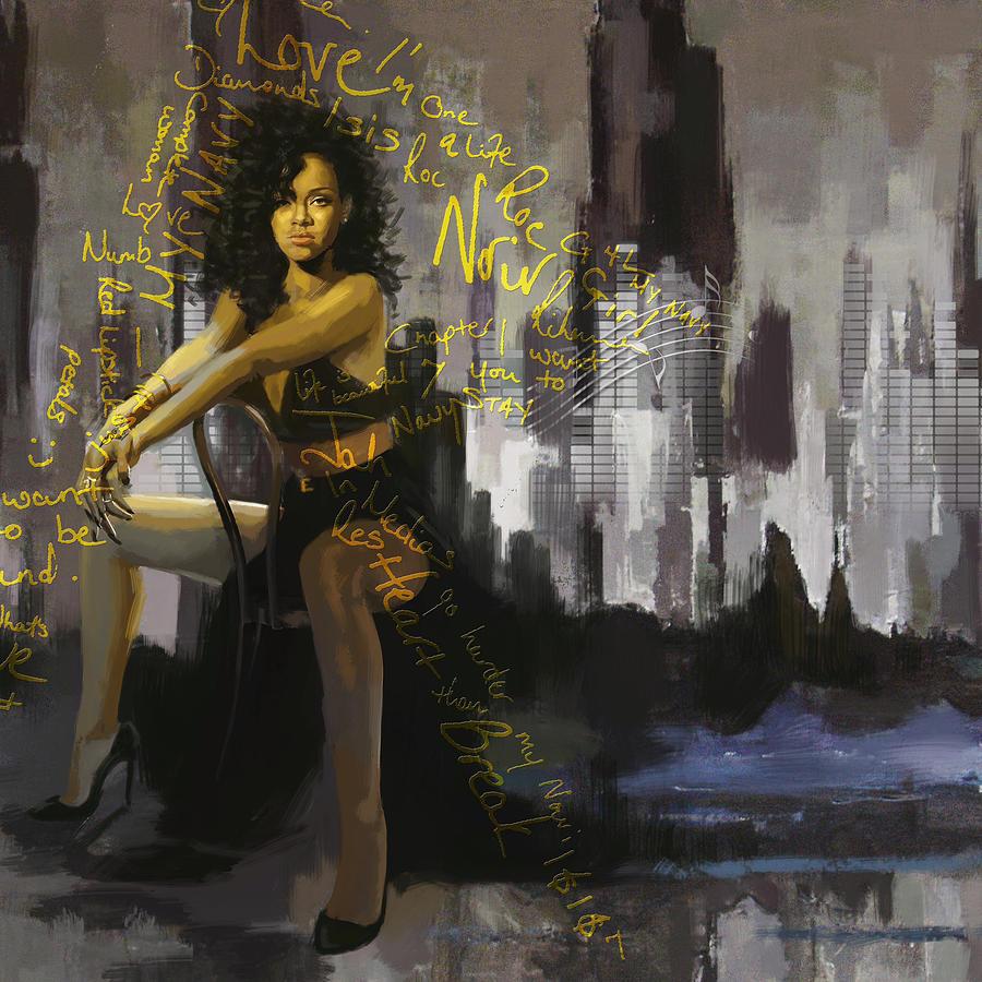 Rihanna Painting - Rihanna by Corporate Art Task Force