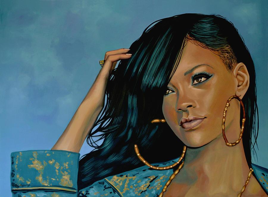 Rihanna Painting - Rihanna Painting by Paul Meijering